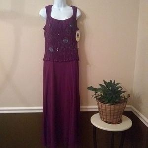 Nox new burgundy sleeveless long gown